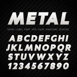 Vector Metal Font Royalty Free Stock Photography