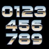 Vector metal font stock illustration