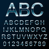 Vector metal font. Vector illustration of a metal like font Stock Images