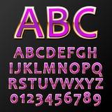 Vector metal font Stock Image