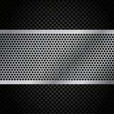 Vector Metal Grill on Carbon Fiber Background Royalty Free Stock Photos