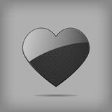 Vector metal heart. Royalty Free Stock Images