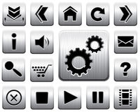 Vector metal icon set. Stock Photography