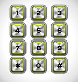 Vector Metal keypad. For Web and Mobile Royalty Free Stock Image