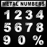 Vector metal numbers Royalty Free Stock Image