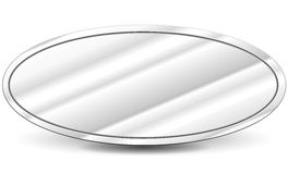 Vector metal oval background Royalty Free Stock Photos