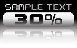 Vector metal percent banner Royalty Free Stock Photo