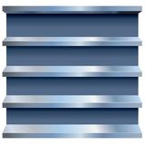 Vector Metal Shelves Stock Images