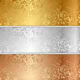 Vector metal textures Royalty Free Stock Photo