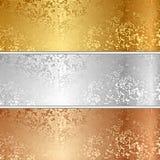 Vector metal textures. Vector illustration of metal textures Royalty Free Stock Photo