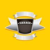 Vector metallic automotive, motorcycle badge Royalty Free Stock Photo