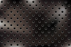 Vector metallic background with holes royalty free illustration
