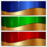 Vector Metallic Banner Set Stock Photo