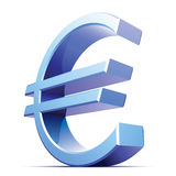 Vector metallic euro sign Royalty Free Stock Photography