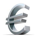 Vector metallic euro sign Stock Image