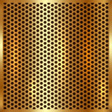 Vector metallic gold cell background Stock Photo