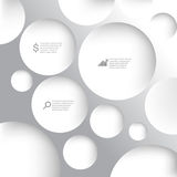 Vector metallic infographic background Royalty Free Stock Images