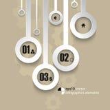 Vector metallic infographics background Stock Photos