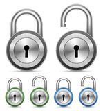 Vector Metallic Padlock Royalty Free Stock Image
