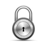 Vector Metallic Padlock Royalty Free Stock Photos