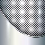 Vector metallic silver background Stock Photo