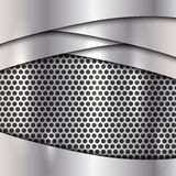 Vector metallic silver cell background Royalty Free Stock Photography