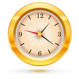 Vector metallic wall clock Royalty Free Stock Images