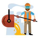 Vector Metallurgical industry. Flat style colorful Cartoon illustration Stock Photos