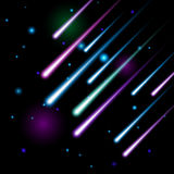 Vector meteor shower Royalty Free Stock Images