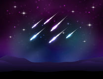Vector meteor shower Stock Images
