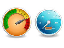Vector meter graphic Royalty Free Stock Photo