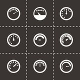 Vector meter icon set Royalty Free Stock Photos