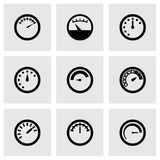 Vector meter icon set Royalty Free Stock Image