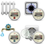 Vector Meter Icons Royalty Free Stock Images