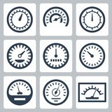 Vector meters icons set Stock Photography