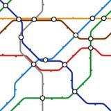 Vector metro scheme Stock Photo