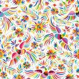Vector Mexicaans borduurwerk naadloos patroon stock illustratie