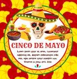 Vector Mexicaanse de vieringsgroet van Cinco de Mayo