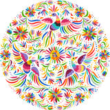 Vector Mexican Embroidery Round Pattern Stock Images
