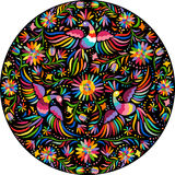 Vector Mexican embroidery round pattern Royalty Free Stock Photos