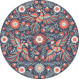 Vector Mexican embroidery round pattern Stock Image