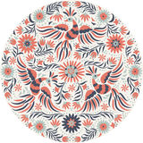 Vector Mexican embroidery round pattern Stock Photos