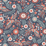 Vector Mexican embroidery seamless pattern. Mexican embroidery seamless pattern. Colorful and ornate ethnic pattern. Birds and flowers on the dark red and black Stock Image