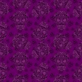 Vector Mexican  Skull Seamless pattern. Stock Photo