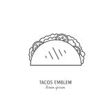 Taco icon design Royalty Free Stock Images