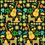Vector Mexico seamless pattern. Mexican background Stock Images