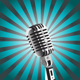 Vector mic background. In retro style