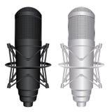 Vector Microfoons Royalty-vrije Stock Afbeeldingen