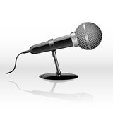 Vector  microphone. Vector icon of a microphone for web design isolated on white Stock Photos
