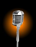 Vector microphone Royalty Free Stock Image